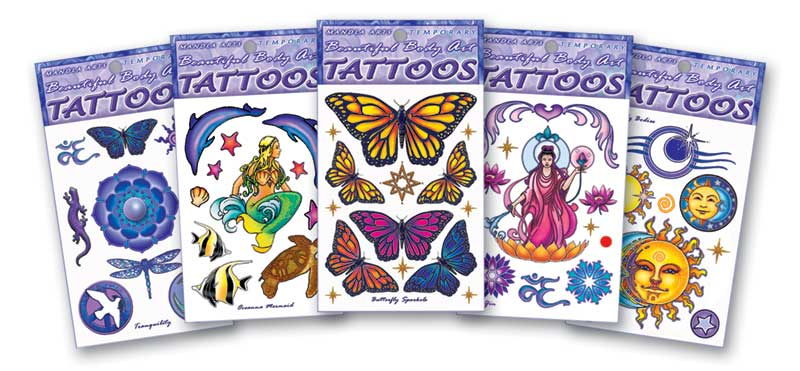 Mandala Arts Temporary Tattoos with the art of Bryon Allen. Beautiful Body