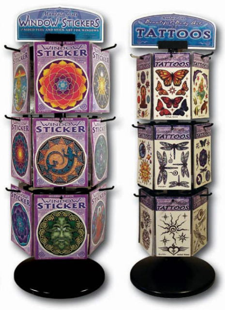 Mandala Arts Tattoo and Sticker Display Unit